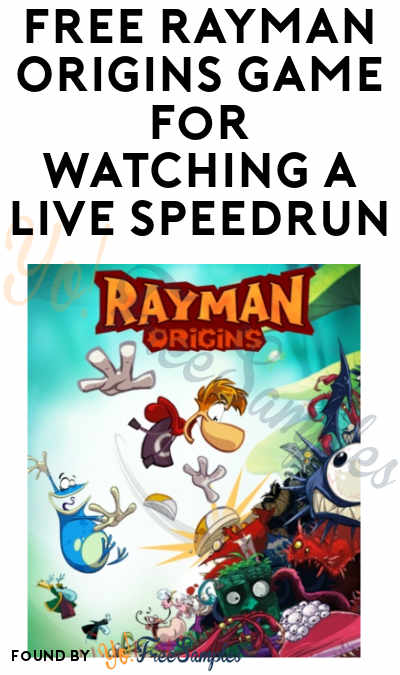 Today! FREE Rayman Origins Game for Watching a Live Speedrun (Ubisoft and Twitch Required)