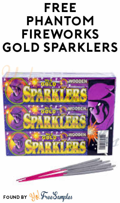 FREE Phantom Fireworks Gold Sparklers (In-Store Only)