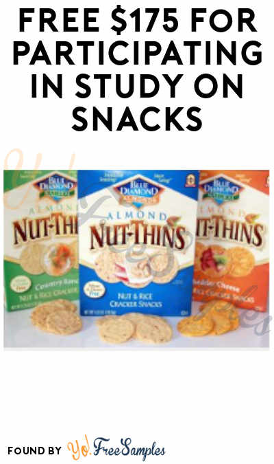 FREE $175 For Participating In Study On Snacks (Must Apply)