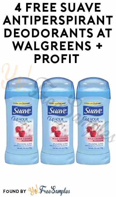 4 FREE Suave Antiperspirant Deodorants at Walgreens + Profit (Balance Rewards & Ibotta Required)