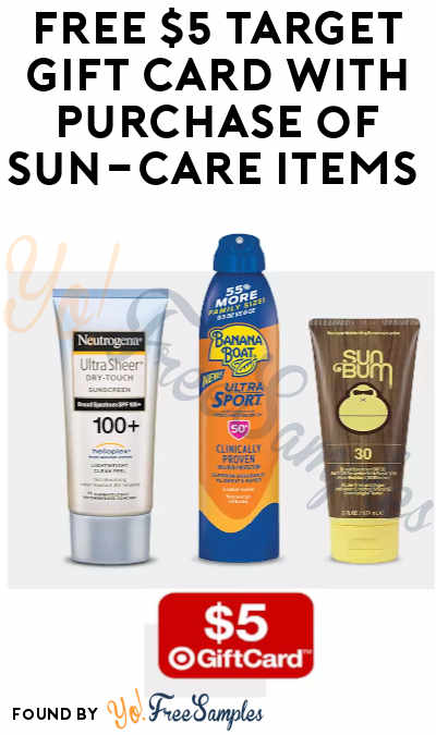 FREE $5 Target Gift Card with Purchase of 3 Sun-Care Items