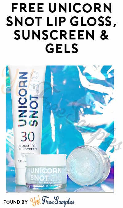 FREE Unicorn Snot Lip Gloss, Sunscreen & Gels (Referring Friends Required)