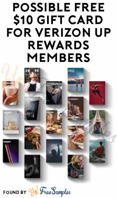 Possible FREE $10 Gift Card for Verizon Up Rewards Members