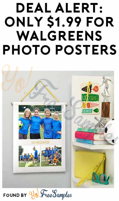DEAL ALERT: Only $1.99 for Walgreens Photo Posters (Free Pickup In-Stores)