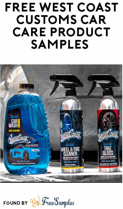 FREE West Coast Customs Car Care Product Samples