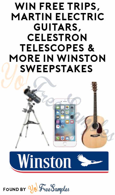 Enter Daily: Win FREE Trips, Martin Electric Guitars, Celestron Telescopes & More in Winston Sweepstakes