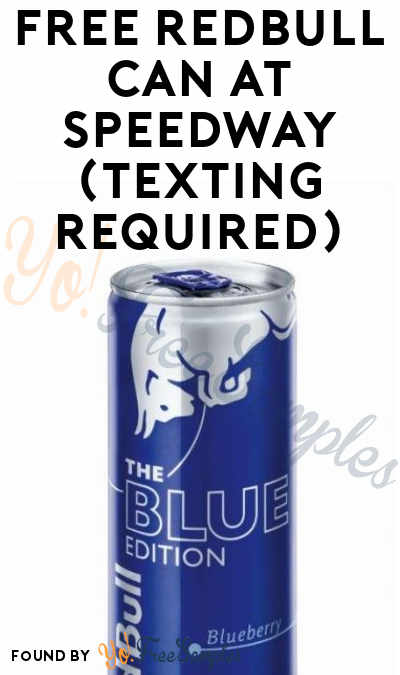 FREE Redbull Can At Speedway (Texting Required)