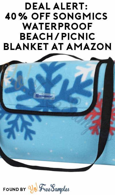 DEAL ALERT: 40% OFF SONGMICS Outdoor Waterproof Beach/Picnic Blanket At Amazon