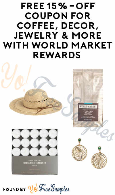 FREE 15% Off Coupon for Coffee, Décor, Jewelry & More with World Market Rewards (Signup Required)