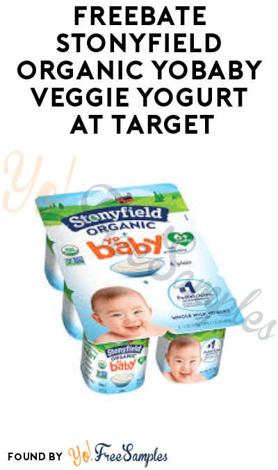 FREEBATE Stonyfield Organic YoBaby Veggie Yogurt at Target (Ibotta Required)