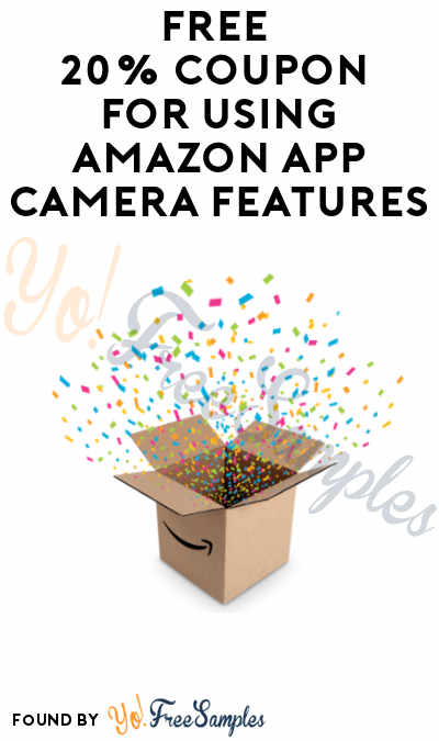 FREE 20% Coupon For Using Amazon App Camera Features (Select Prime Accounts)