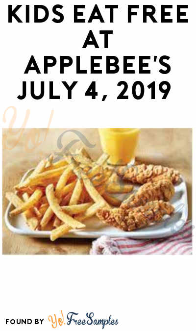 Kids Eat FREE at Applebee's July 4, 2019 (Purchase Required)