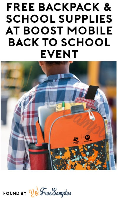 FREE Backpack & School Supplies at Boost Mobile Back to School Event (7/30)