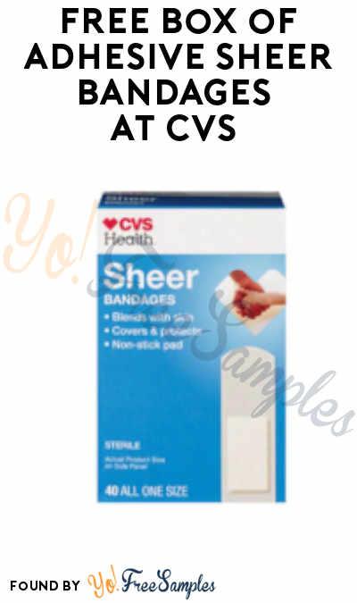 FREE Box of Adhesive Sheer Bandages at CVS (App Required + Select Accounts)