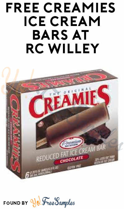 FREE Creamies Ice Cream Bars at RC Willey (7/24)