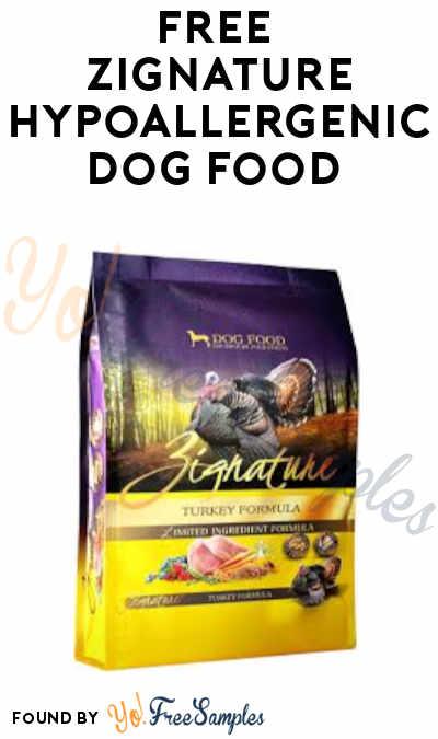 FREE Zignature Hypoallergenic Dog Food