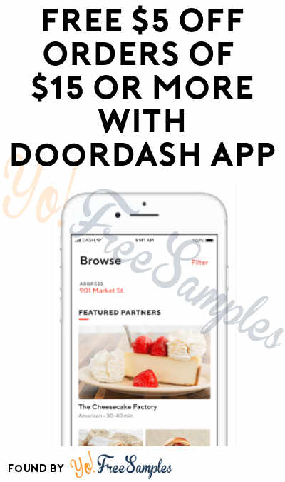 FREE $5 Off Orders Of $15 Or More With Doordash App (Promo Code Required)