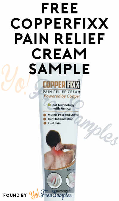FREE CopperFixx Pain Relief Cream Sample [Verified Received By Mail]