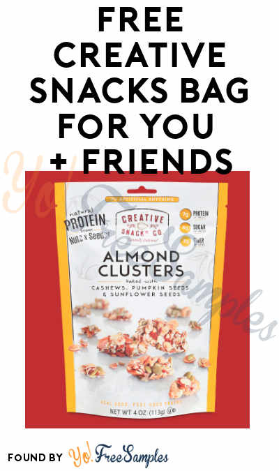 FREE Creative Snacks Bag For You + Friends (Facebook or Instagram Required)