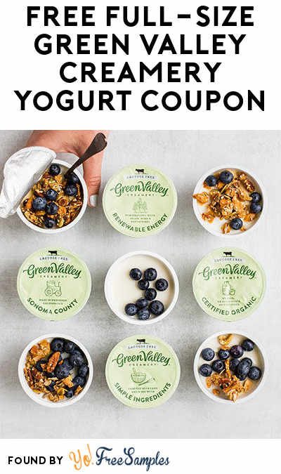 FREE Full-Size Green Valley Creamery Yogurt Coupon
