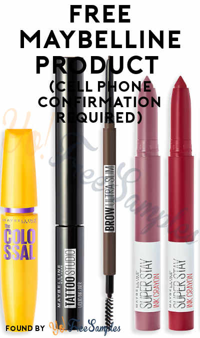 FREE Maybelline Product Of Your Choice (Cell Phone Confirmation Required)
