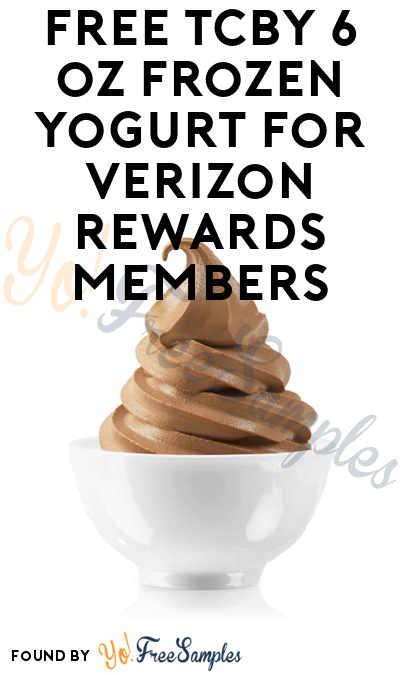 FREE TCBY 6 oz Frozen Yogurt For Verizon Rewards Members