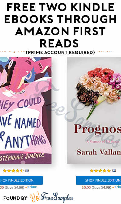 FREE Two Kindle eBooks Through Amazon First Reads (July Only + Prime Account Required)