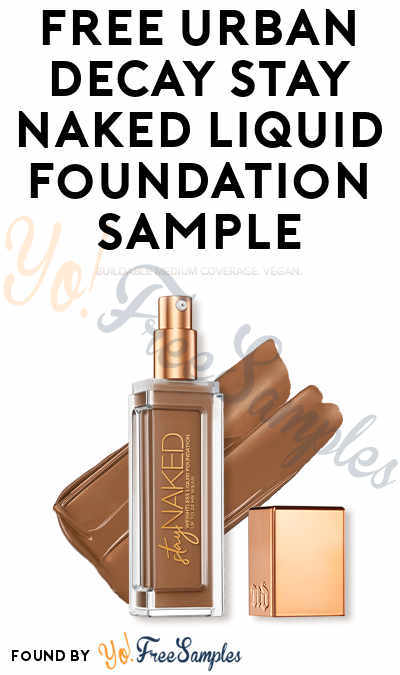 FREE Urban Decay Stay Naked Liquid Foundation Sample