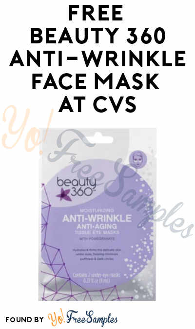 FREE Beauty 360 Anti-Wrinkle Face Mask at CVS (App Required + Select Accounts)