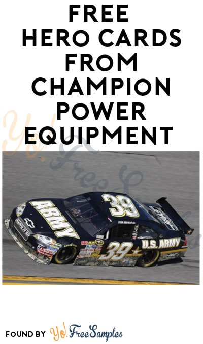 FREE Hero Cards from Champion Power Equipment (Mail-In Request)