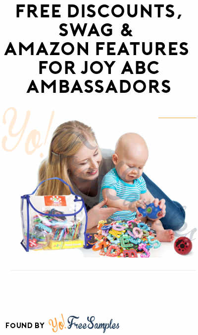 FREE Discounts, Swag & Amazon Features for Joy ABC Ambassadors (Must Apply)