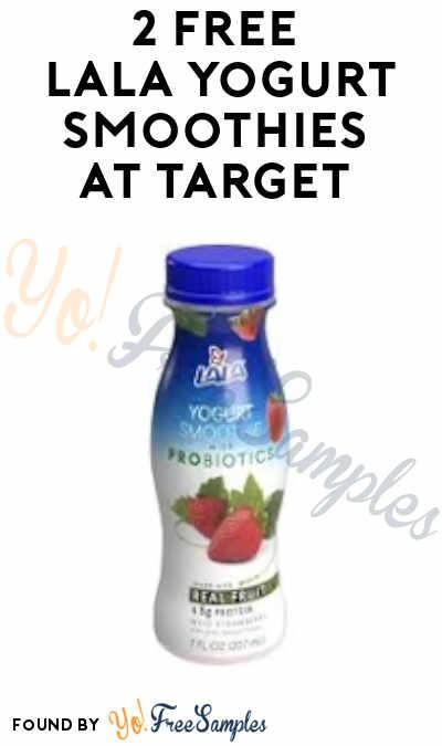 2 FREE LaLa Yogurt Smoothies at Target (Coupon + Ibotta Required)