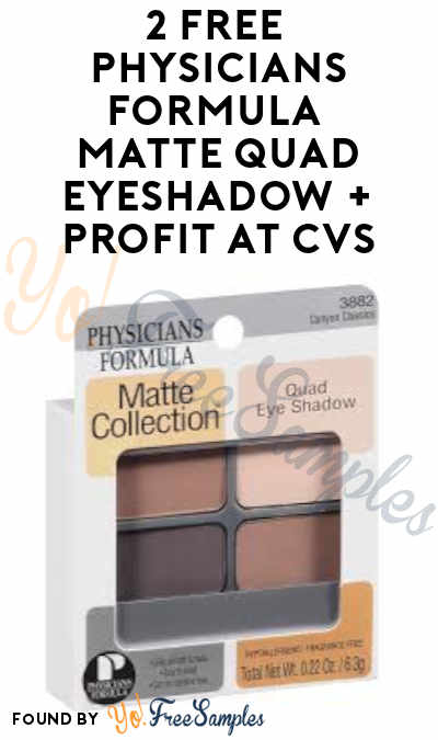 2 FREE Physicians Formula Matte Quad Eyeshadow + Profit at CVS (Rewards Card Required)