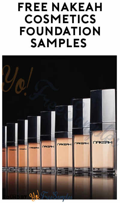 FREE Nakeah Cosmetics Foundation Samples (Email Required)