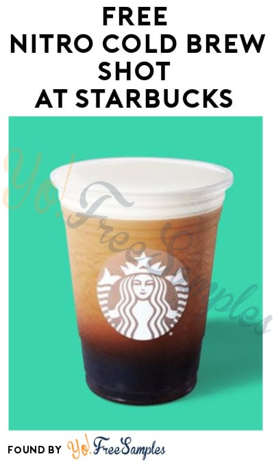 FREE Nitro Cold Brew Shot at Starbucks (8/2 Only)