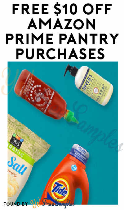 FREE $10 Off Amazon Prime Pantry Purchases (For Orders $40 Or More)