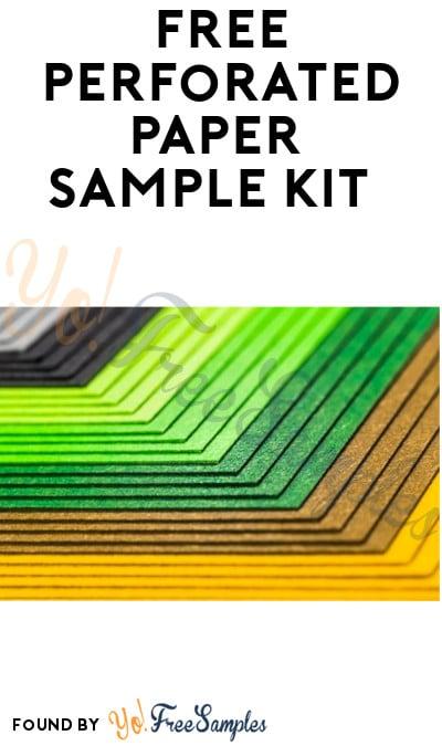 FREE Perforated Paper Sample Kit