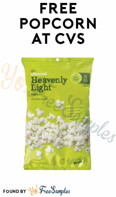 FREE Popcorn at CVS (Select Accounts + In-Stores Only)