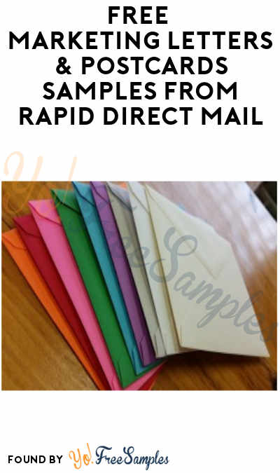 FREE Marketing Letters & Postcards Samples from Rapid Direct Mail (Email Subscription Required)