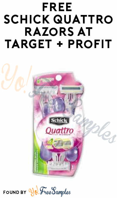FREE Schick Quattro Razors at Target + Profit (Ibotta Required)
