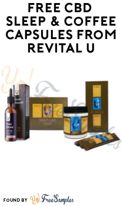 FREE CBD Sleep & Coffee Capsules from Revital U
