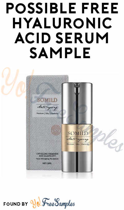 Possible FREE Hyaluronic Acid Serum Sample