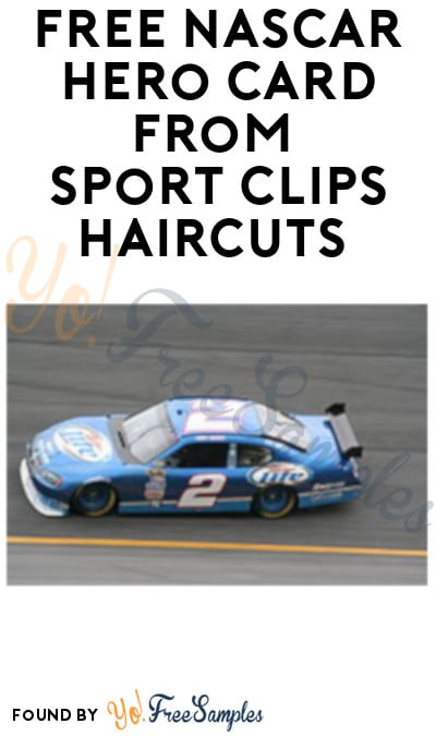 FREE NASCAR Hero Card from Sport Clips Haircuts