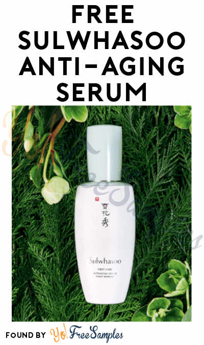 FREE Sulwhasoo Anti-Aging Serum Sample (Mobile Only)
