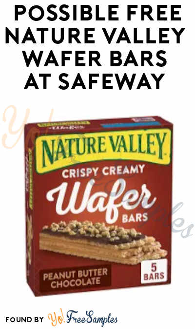 Possible FREE Nature Valley Wafer Bars at Safeway (Just For U Required)