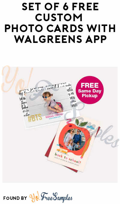 6 FREE Custom Photo Cards At Walgreens (In-Store Only)