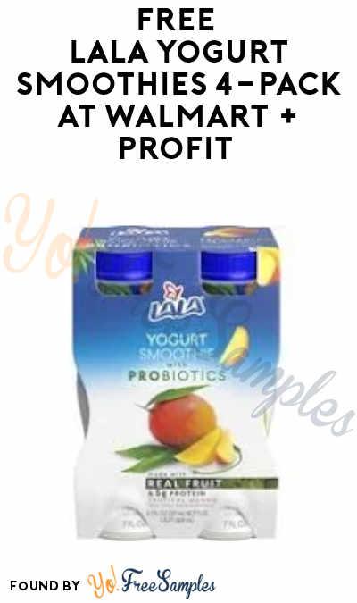FREE Lala Yogurt Smoothies 4-Pack at Walmart + Profit (Ibotta Required)