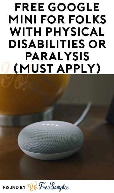 FREE Google Mini For Folks With Physical Disabilities or Paralysis (Must Apply)