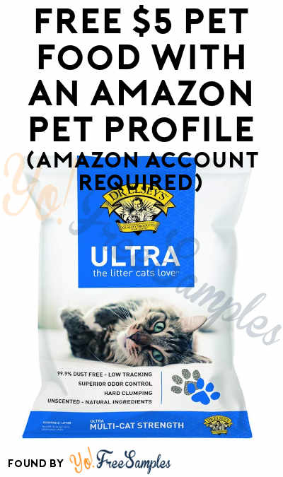 FREE $5 Pet Food with An Amazon Pet Profile (Amazon Account Required)