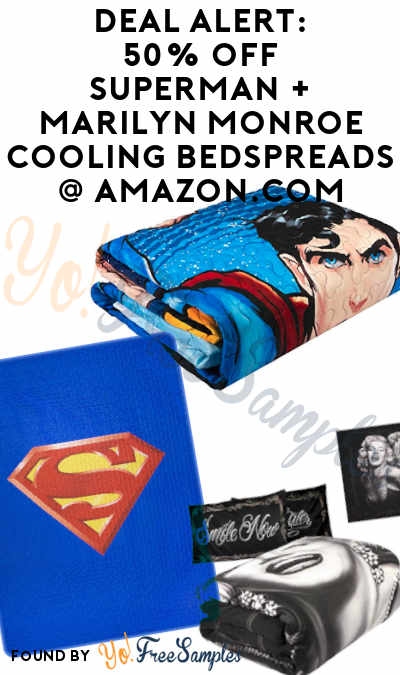 DEAL ALERT: 50% Off Superman, Marilyn Monroe & Batman Cooling Bedspreads At Amazon